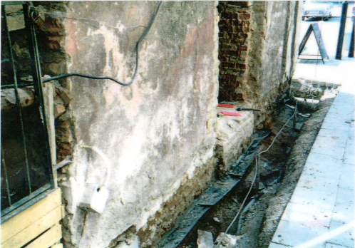 Podřezání zdiva brno