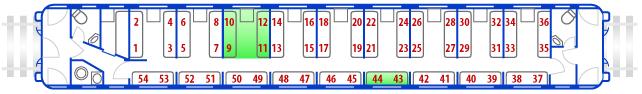 расположение мест в жд вагоне плацкарт Устройства