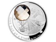Stříbrná mince CRYSTAL COIN - One Day at a Time - Honey proof