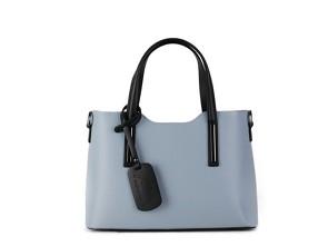 f5c5c0be22 ITALSKÉ Vera pelle luxusní kožené kabelky Carina modré s černou střední