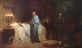 Ilja Repin - Vzkříšení Jairovy dcery