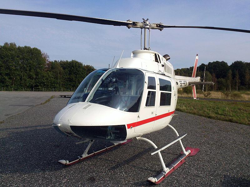 Vrtulník použitý při loupeži