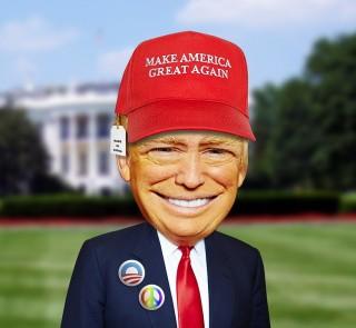 Hlavním heslem Trumpovy kampaně bylo obnovit velikost Ameriky.