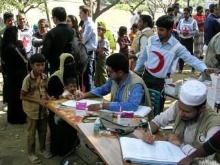 Mobilní klinika pro rohinské uprchlíky v Cox's Bazar.