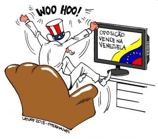 Kdo oslavuje volební vítězství venezuelské opozice nejvíce? (zdroj: Opera Mundi)