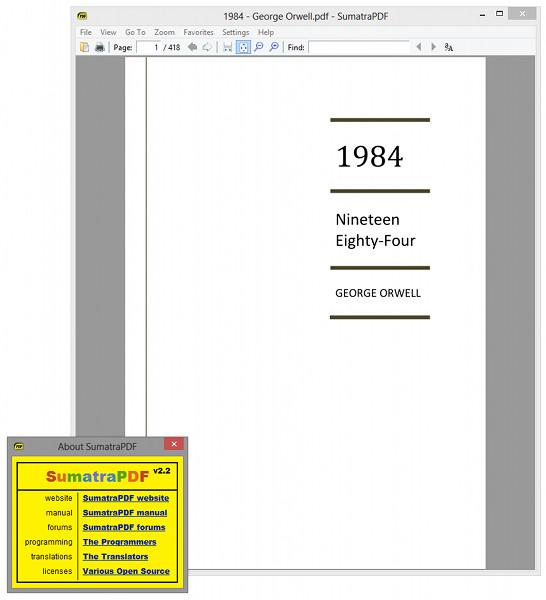 sumatra pdf viewer